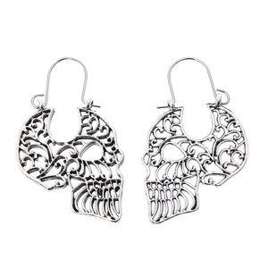 🖤Filigree sugar💀skull drop earrings, brand new‼️